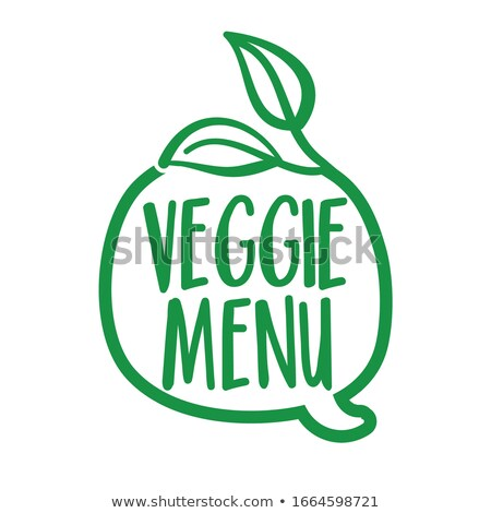 Veggie menu - Support healthy food, buy fresh products.  Stock photo © Zsuskaa