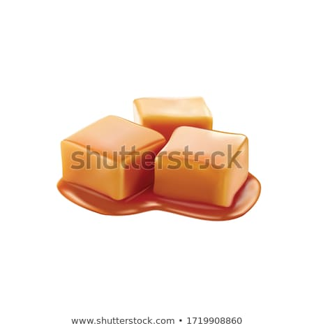 Caramel Toffee Candy Delicious Sweet Cube Vector Stock photo © pikepicture