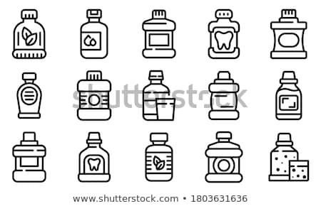 Mouthwash Hygiene Liquid And Equipment Set Vector Stock photo © pikepicture