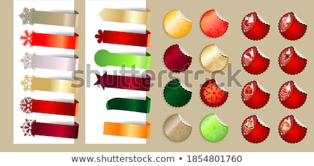 round labels for different items stock photo © orson