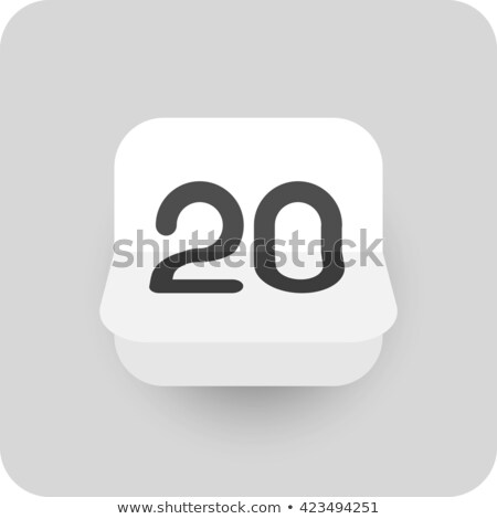Simple black calendar icon with 20 august date isolated on white Stock photo © evgeny89