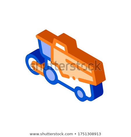 Reaping Harvester Vehicle isometric icon vector illustration Stock photo © pikepicture
