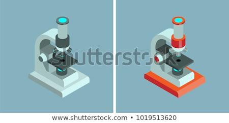 Medische apparatuur microscoop isometrische icon vector teken Stockfoto © pikepicture
