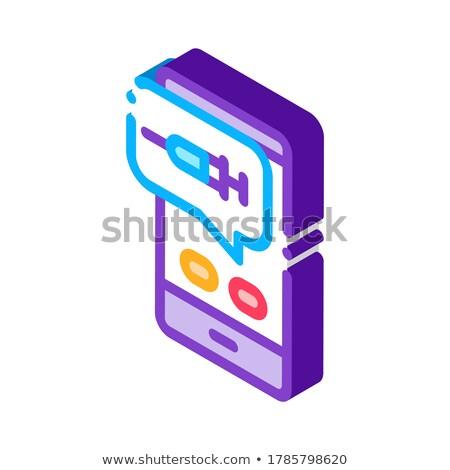 Injectie mobiele app isometrische icon vector Stockfoto © pikepicture