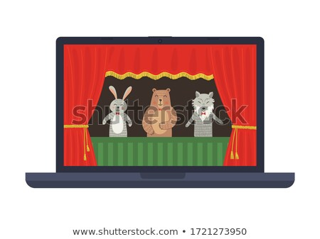 Fairy tale scene on laptop screen Stock photo © bluering