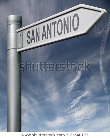 Техас · шоссе · знак · зеленый · США · облаке · улице - Сток-фото © kbuntu