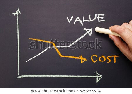 Cost-value graph on blackboard Stock photo © ivelin