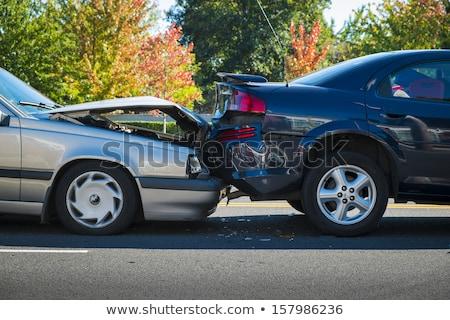 Auto Absturz simulierten Spielzeug Autos Hintergrund Stock foto © Hofmeester