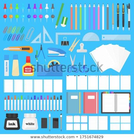 Notebooka notatka Stick pusty żółty wykrzyknik Zdjęcia stock © jamdesign