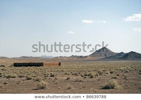 romok · Irán · sivatag · épület · tájkép - stock fotó © travelphotography