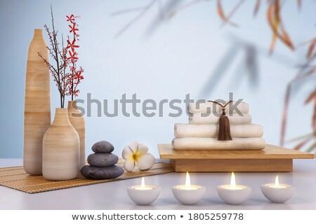 Zen ambiente spa salón caliente velas Foto stock © Anna_Om