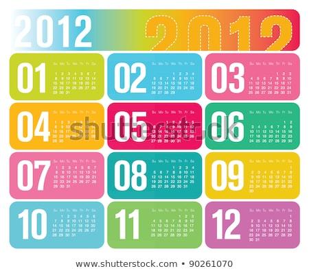 2012 colorful calendar stock photo © Losswen