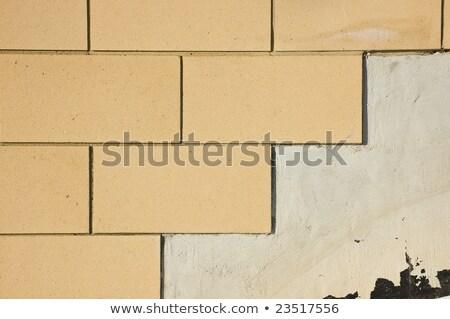 Textuur nieuwe nauwkeurig grijs muur bouw Stockfoto © vlaru