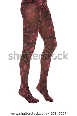Feminino pernas meia-calça saia branco menina Foto stock © RuslanOmega