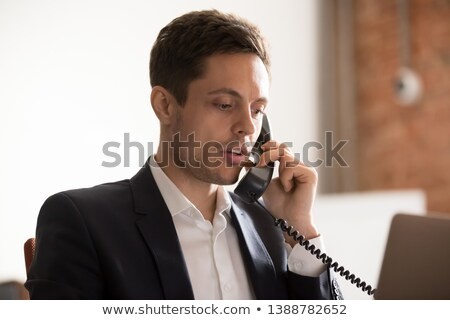 businessman thinks over the answer Stock photo © goryhater