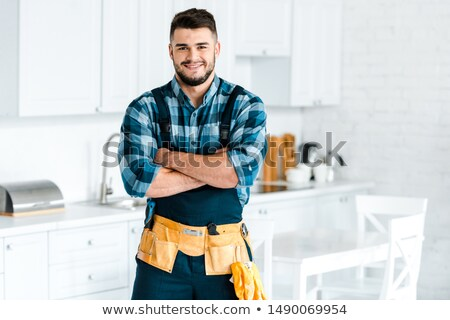 Handyman in overalls Stock photo © photography33
