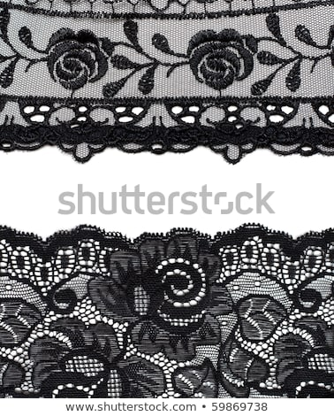 Collage lace with pattern on black background Stock photo © RuslanOmega