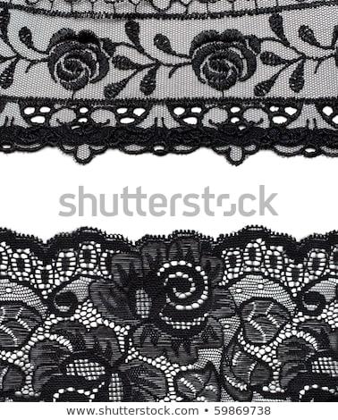 ストックフォト: コラージュ · 黒 · いくつかの · 花