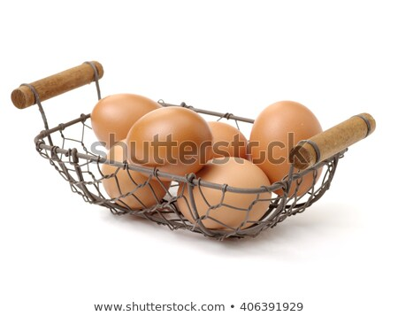 Eggs in Metal Basket Stock photo © azamshah72