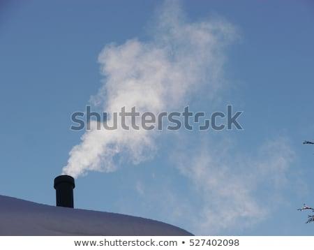 Chimney and white smoke stock photo © MilosBekic