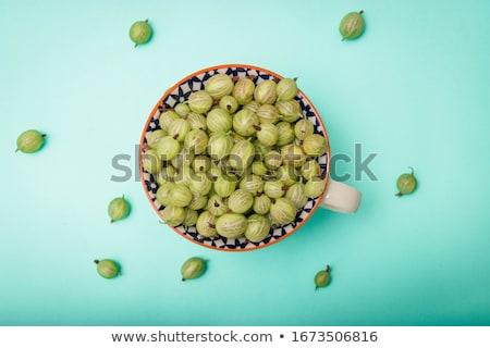 gooseberries in bowl stock photo © inganielsen