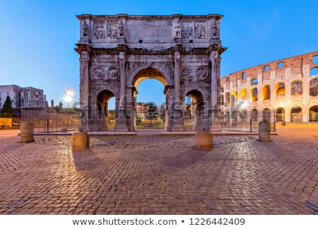 The Arch of Constantine at Night Stock photo © ca2hill