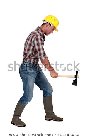 Tradesman using an axe Stock photo © photography33