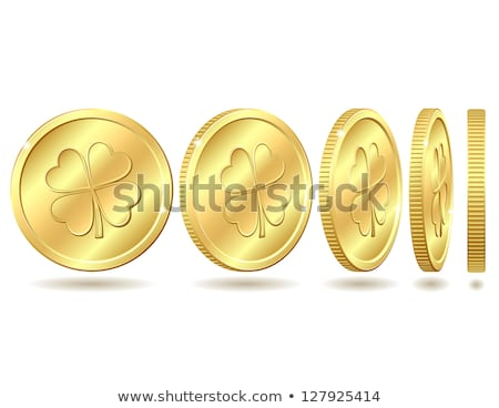 Leprechaun Find Golden Coin Stock photo © indiwarm
