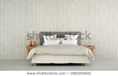 bedroom with leather decoration Stock photo © Paha_L