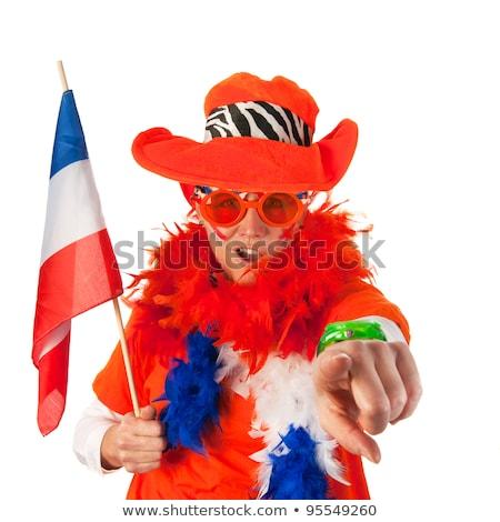 Funny Dutch supporter Stock photo © ivonnewierink