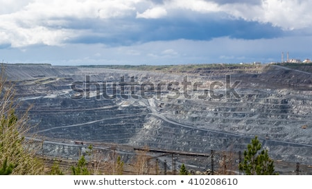Dump in the asbestos quarry Stock photo © Nobilior