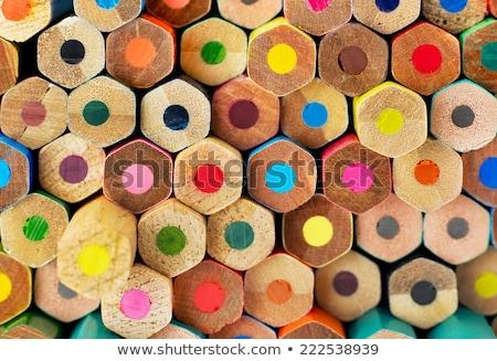 Colorful Pencils In Closeup ストックフォト © goir