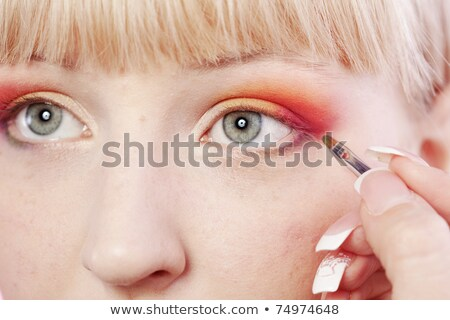 body care series   close up of blond woman stock photo © candyboxphoto