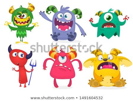 vector · monstru · set · colorat · monsters · mână - imagine de stoc © beaubelle