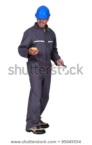 Foto stock: Homem · construção · seis · camisas