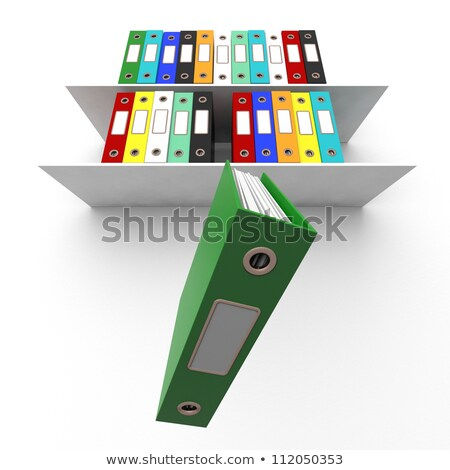 Shelves Of Files With One Falling For Getting Office Organized Stock photo © stuartmiles