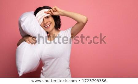 portré · boldog · derűs · lány · meleg · pléd - stock fotó © zittto