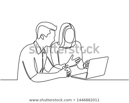 Teen Digitally Drawing 2 Stock photo © lisafx