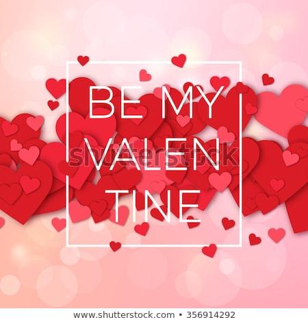 Brilhante vermelho vetor corações dia dos namorados casamento Foto stock © experimental