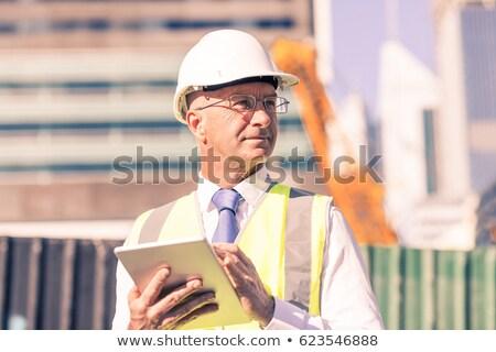 Senior architetto lavoro costruzione lavoro imprenditore Foto d'archivio © photography33