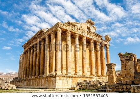 Tempel Libanon oude stad ruines retro Stockfoto © Anna_Om