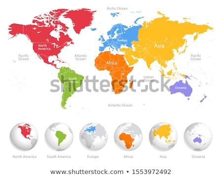 Föld kontinensek zöld tábla térkép világ Stock fotó © stevanovicigor