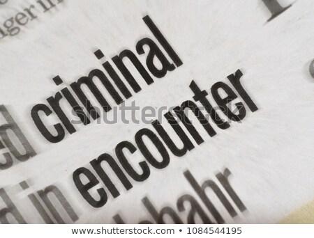 新聞 殺人 アイコン ニュース メディア ストックフォト © lirch
