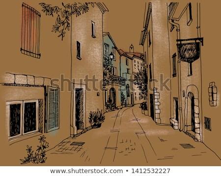 ősi · épületek · öreg · utcalámpa · ház · város - stock fotó © deyangeorgiev