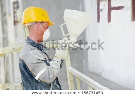 lavoratore · riempimento · muri · isolamento · costruzione - foto d'archivio © photography33