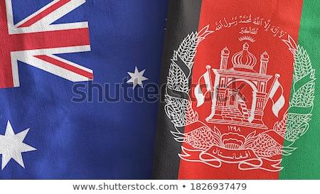 Austrália Afeganistão mundo australiano bandeira Foto stock © ruskpp