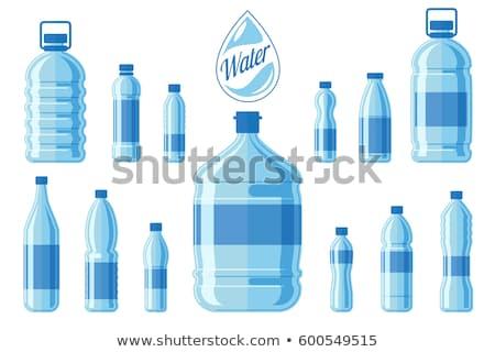 ビッグ ボトル 水 孤立した 白 春 ストックフォト © kornienko