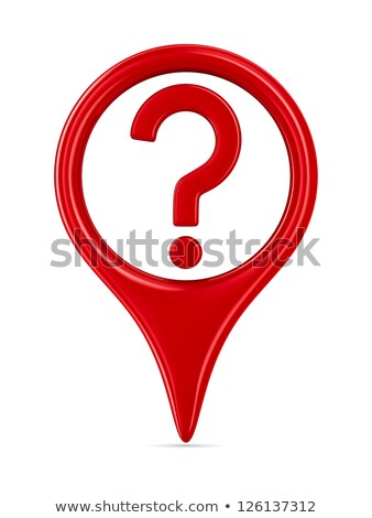 Stock photo: question mark on warning sign   isolated