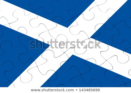 Scotland jigsaw pattern Stock photo © ronfromyork