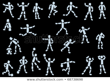 Cartoon Hand - Volleyball - Vector Illustration Stock photo © indiwarm